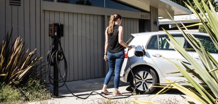 JuiceBox charging in driveway