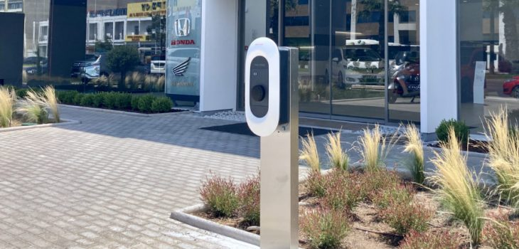 Enervek Recharge Pedestal installation